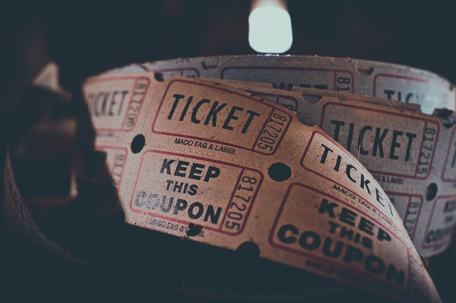 Photo of a roll of ticket stubs