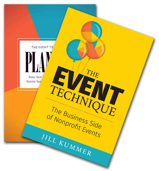 Front cover of The EVENT Technique book & the EVENT Technique Planner