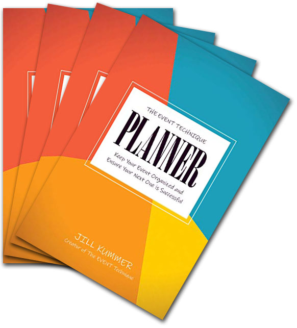 Bundle of 4 of The EVENT Technique Planner book